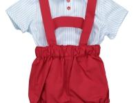 Conjunto pichi y camisa niño rojo