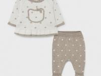 Conjunto osito beige polaina tricotado recién nacido niña mayoral