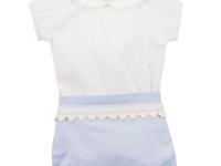 Traje niño vestir pololo azul blanco