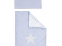 Coordinado cuna reversible azul estrella