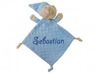 Doudou bebé bordado osito azul  OFERTA ESPECIAL
