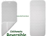 Estrellas Gris Colchoneta reversible