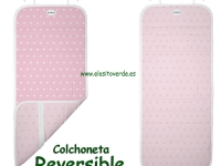 Estrellas Rosa Colchoneta reversible