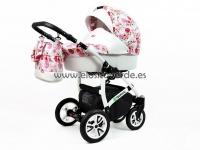 Tropic Carro de bebé 3 en 1 Flor Rosa