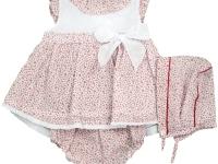 Vestido niña jesusito capota plumeti florecitas