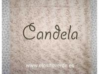 Manta Cuna o Cama Rosetones Camel ** PRECIO ESPECIAL**