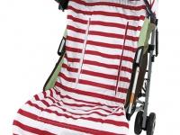 Capota Rayas rojas silla de paseo
