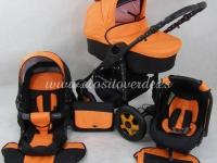 Carro de bebé Milano 3 piezas Naranja negro 2018
