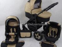 Carro de bebé Milano 3 piezas Camel negro 2018