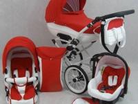 Mos Retro Eco Piel Rojo Carrito Bebé 3 piezas 2018