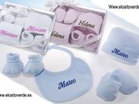 Pack Regalo Recién Nacido 3 colores liso Personalizado