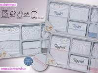 Pack Regalo Recién Nacido 5 piezas Puntitos Personalizado