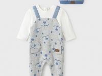 Pelele ECOFRIENDS gorro recién nacido niño