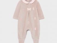Pijama hojaldre punto lazo recién nacida niña mayoral