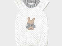 Pijama punto recién nacida niña conejito puntitos mayoral