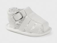 Sandalias polipiel recién nacido niño mayoral blanco