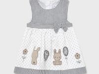 Vestido combinado recién nacida niña conejitos mayoral