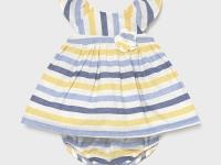 Vestido lino rayas recién nacida niña
