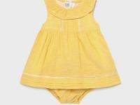 Vestido lino recién nacida niña amarillo mayoral