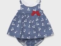 Vestido plana recién nacida niña mayoral cerezas