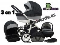 Way Luxury Carrito de bebé  Negro 2 o 3 piezas 2017